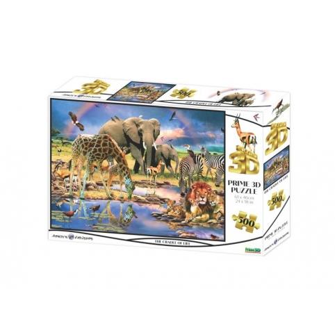 Пазли 3D дикі тварини сафарі 500 елементів (10367)