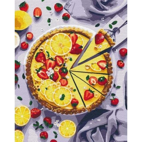 """Набір для розпису по номерах """"Лимонний пиріг"""" 40 *50 см  КНО5594"""