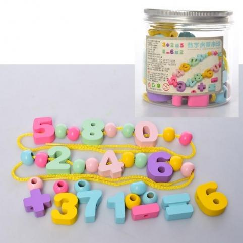 Деревянная игрушка Шнуровка Цифры (MD2194)