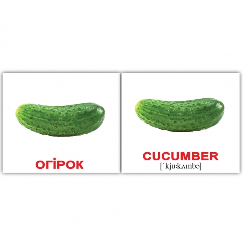 Карточки Домана Овощи / Vegetables мини купит Киев Украина Вундеркинд с пеленок