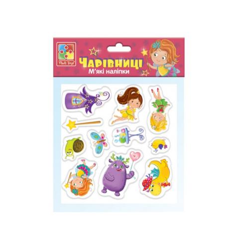 """М'які наліпки """"Чарівниці"""", Vladi Toys, VT4210-03"""