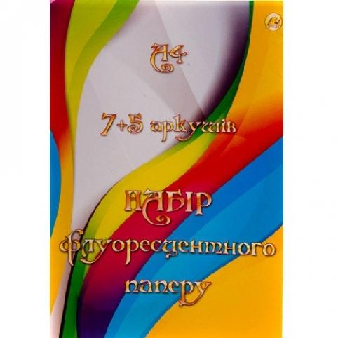 Набор бумаги цветной А4 7+5 листов Тетрада Ш-3919