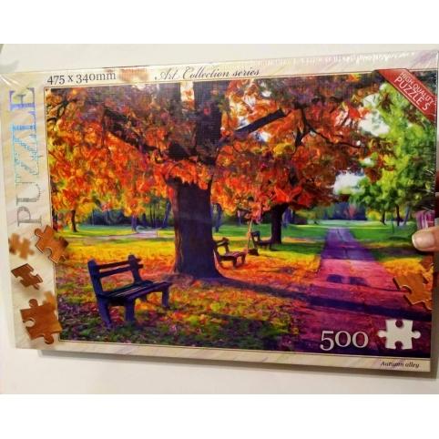 Пазл-картина Autumn Alley, 500 деталей, 47,5*34см