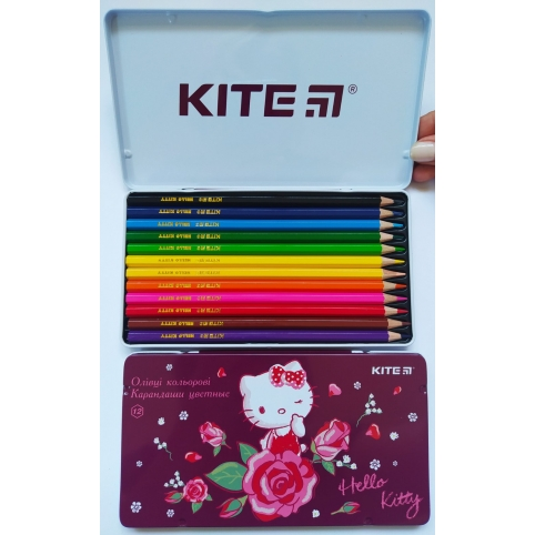 Карандаши цветные шестигранные Hello Kitty, 12 шт. HK18-058