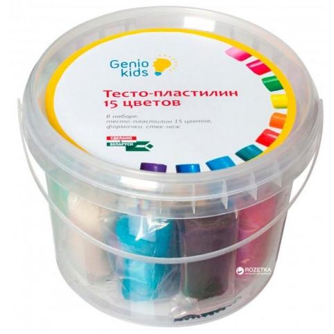 Набор для детской лепки Genio Kids Тесто-пластилин 15 цветов (TA1066)
