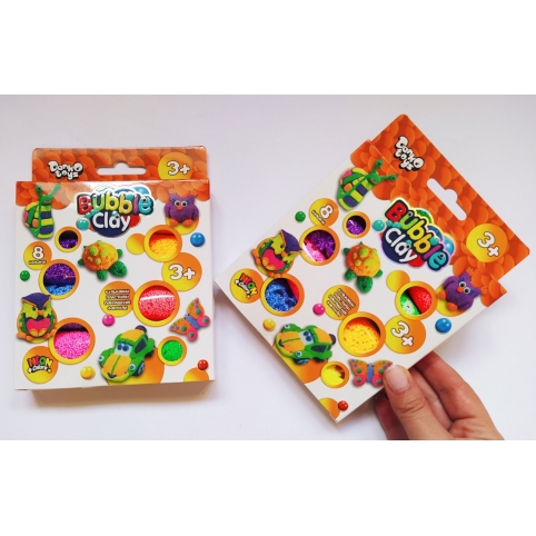 """Набор для творчества воздушный шариковый пластилин """"Bubble Clay"""", 8 цветов"""
