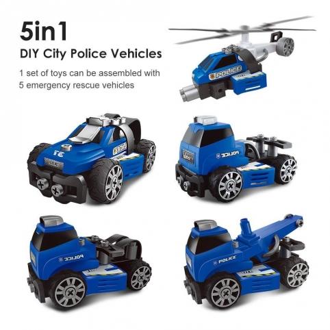 Конструктор на шурупах Полиция 5в1 QL6501S-5