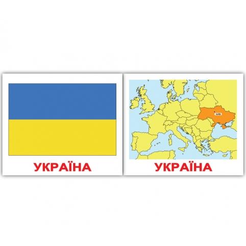 """Карточка Украина из набора мини-карточек Домана """"Страны"""""""