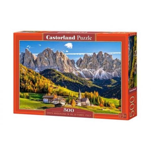 """Пазл Castorland """"Санта Маддалена, Италия"""", 500дет, размер картинки:47х33см,(В-52738),"""