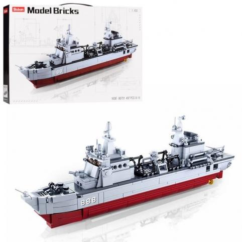 """Конструктор SLUBAN M38-B0701 """"Model Bricks"""": Військовий корабель"""