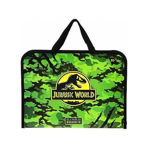 "Папка-портфель на блискавці з тканинними ручками ""Jurassic World"" - Yes"