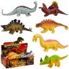 Животные резиновые-тянучки W6328-207206137149221155 (36уп по 12шт2)динозавры,шарики, размер из рис. 1