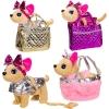Мягкая игрушка BL-124R (24шт2) муз собачка в сумочке,рус яз, 3 вида,р-р игрушки-29*10*25см, р-р сум рис. 1