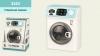 Стиральная машинка 3252 (24шт2) звук, р-р игрушки – 16.5*11.5*23 см, в открытой коробке 19*14*25 см рис. 1