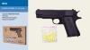 Пистолет метал ZM22 (36шт) пульки в кор.21*14*4,5см рис. 1