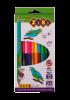 Кольорові олівці Double, 12 шт. (24 кольори), KIDS LINE рис. 1