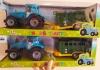 Синий трактор с прицепом 0488-301-2-4Q