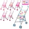 Коляска 9302 W (12шт) для куклы,жел,двойные колеса,поворот,55-49-26см,выс.до руч53см,5 видов рис. 1