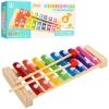 Деревянная игрушка Ксилофон MD 1163 (100шт) 20см, 8 тонов, палочка 2шт, в кор-ке, 21,5-11-3,5см рис. 1