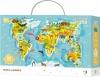 Пазл DoDo Карта Світу Тваринки на 80 елементов (300133)