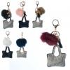 Аксесуар для сумки X14364 брелок, сумочка, помпон, мікс кольорів, кул., 10-10-2 см.