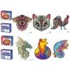 Дерев'яна іграшка Пазли MD 1620 6 видів (тварини, птиці)