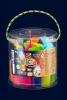 """Креативна творчість """"Тісто для ліплення """"FLUORIC"""" банка 22 кольори укр (8) рис. 1"""