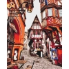 Картина по номерам - Городской пейзаж. Яркие улочки Германии