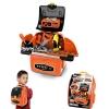 Стол с инструментами 008-962A (16шт) пила,отвертка,склад.болты, в рюкзак, в карт.обертке,22-27-14см рис. 1