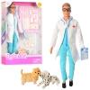 Кукла DEFA 8346B (36шт) доктор,29см, чемодан, инструменты, собачка 2шт, в кор-ке, 23-32,5-5см рис. 1