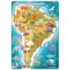 R300178 Пазл з рамкою Південна Америка (21*30*0,3см.) DoDo рис. 1