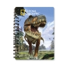 Блокнот 18149 (144шт) динозавр, 10,5-14,5см, клетка, на пружине, 3D, 24шт в дисплее рис. 1