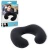 Подушка-подголовник 68675 (36шт) надувная,черная,флоковое покрытие, 33-25-8см, в кор-ке, 19-13-2см рис. 1