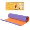 Йогамат MS 0613-1-VO (12шт) TPE, размер 183-61см,толщ0,6см, двухцв(фиолетовый с оранжев),кул,61-13см рис. 1