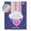 """Щоденник шкільний YES жорсткий """"Rainbow"""" софт-тач, голограф. глітер,"""