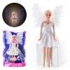Кукла DEFA 8219 (48шт) ангел, свет, в слюде, 33-21-7см рис. 1
