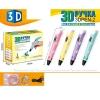 3D ручка 168-E тип філамента (пластик) - PLA (4 кольори), USB, кор., 21-16,5-6 см.