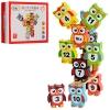 Деревянная игрушка Игра MD 0954 (60шт) фигурки(сова+цифры)12 шт, в кор-ке, 19-14,5-4см рис. 1