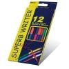 """Олівці двусторонні 12 шт.24 кольори шестигранні,Super Writer,4110-12CB,ТМ""""Marco"""" рис. 1"""