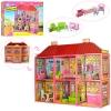 Домик 6983 (5шт) 108,5-93-37см,2этажа,6комнат,мебель,для кукол29см,128дет,в кор-ке,70-48-9см рис. 1