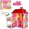 Домик 6980 (6шт) 83,5-70-25,5см,2в1,2этажа,5комнат,мебель,для куклы16см,в кор-ке, 63-48-9,5см рис. 1