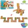 Деревянная игрушка Домино MD 2146 (36шт) животные, в кор-ке,22,5-13-3см рис. 1