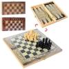 Шахматы 28ACD (60шт) 3в1(шашки,нарды), 3цвета, в кульке, 27,5-14-3,5см рис. 1