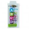 """Комплект """"ABCD"""": Лінійка 15см, 2 косинця, транспортир, прозорий /200/ рис. 1"""