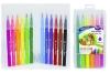 Фломастери-пензлики, 12 кол., TD2699-12, в пласт.чемодані, Імп  рис. 1
