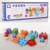 Деревянная игрушка Геометрика MD 2177 (40шт) 2в1, рыбалка(магнитная), в кор-ке, 34-12-6см рис. 1