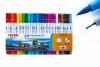 """Фломастери двосторонні (пензлик/лінер) 24 кольори, CLP-07,ТМ"""" Joyko"""" рис. 1"""