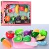 Продукты 848-173-174 (24шт) на липучке, фрукты 8шт, досточка, нож, 2вида, в кор-ке, 37-25-6см рис. 1