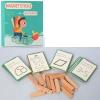 Деревянная игрушка Игра MD 2634 (24шт) фигурки,магнитн.наклейк,карточки,альбом,в кор-ке, 24,5-22-3см рис. 1