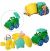 набор для песочницы : трактор, ведерко, лопатка, грабли, лейка, формочк